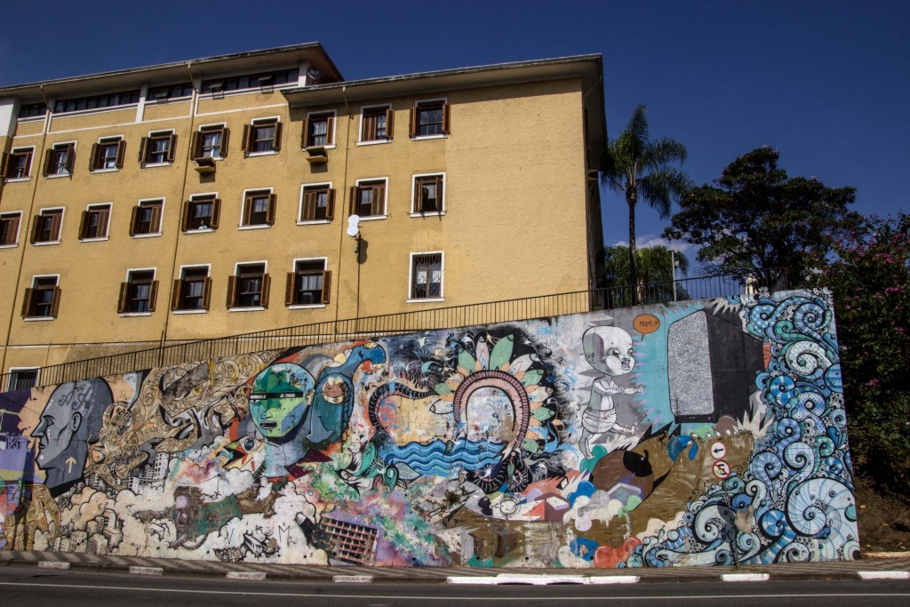 Muro do Instituto Goethe grafitado