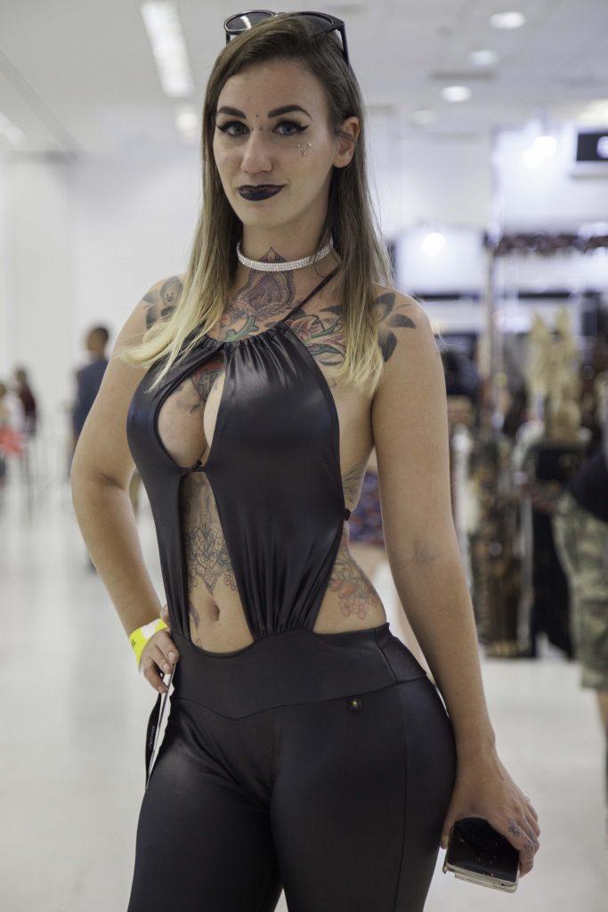 Elvira Bone durante o última dia da Tattoo Experience 2016